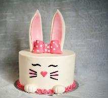 Wielkanocny tort - zajączek
