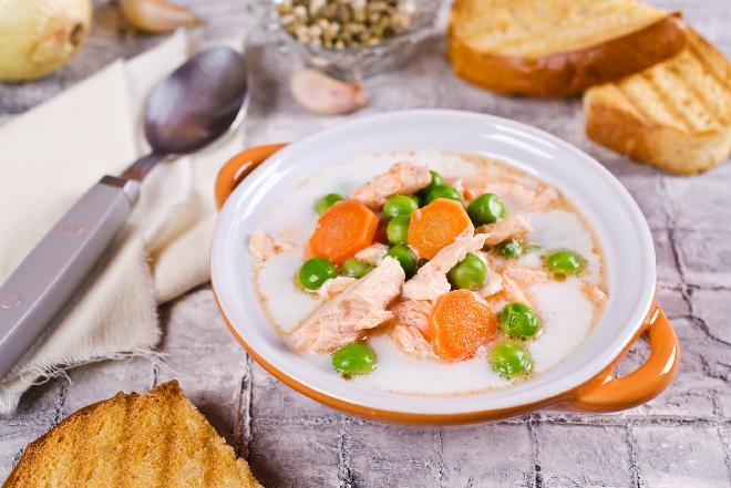 Zupa jarzynowa z młodych warzyw na podrobach drobiowych [QUIZ]