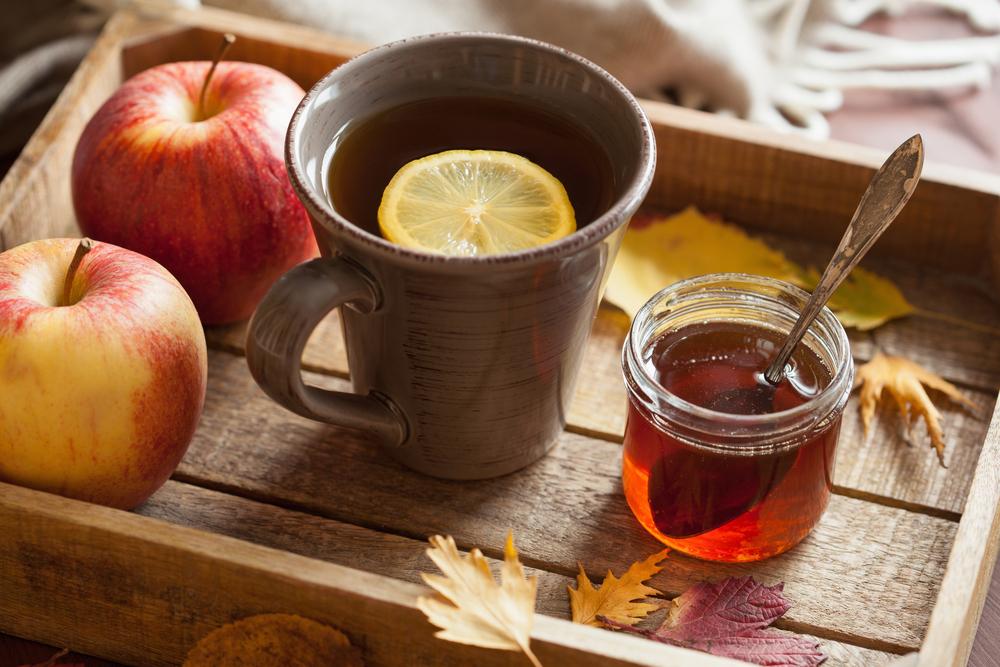 Herbata jabłkowa z miodem